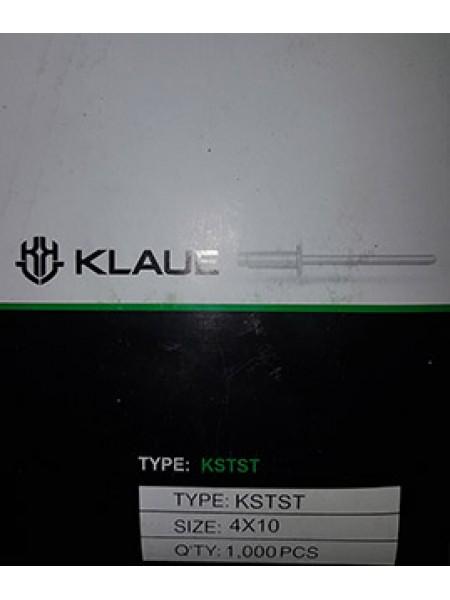 Заклепка вытяжная KLAUE А2/А2  KSTST 4.0x10mm D (1000 шт)